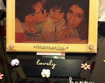 Photo transfer to wood in a wood frame