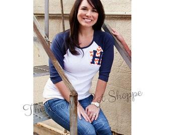 Astros Inspired Baseball Tee//Baseball Tee//Astros Baseball Tee//Houston Astors Tee//Texas Rangers Baseball Tee//Rangers Inspired tee