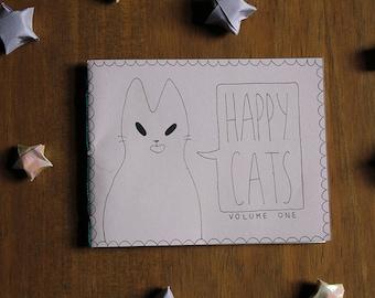 Happy Cats Zine (Volume One) - Mini Cat Comic
