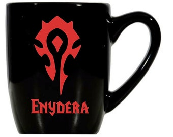 Warcraft Mugs with Character Names