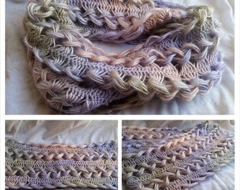 Hairpin Lace Infinity Scarf
