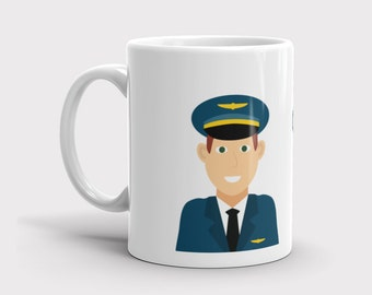 Aviation Mug, Personalized Mug, Airplane Mug, Pilots Mug, Gifts for Pilots, Custom Airplane Mug