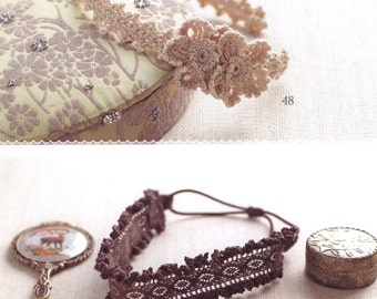 Japanese lace crochet book-hair accesories