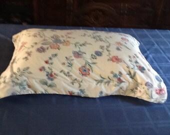 Two Laura Ashley Chinese Silk Pillow Shams