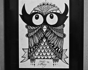 Limited Edition of 80 Owl Print
