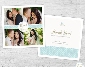 Wedding Photography Thank You Card Template,  Photography Marketing, Photoshop Template, Wedding Photography Marketing - 01-009