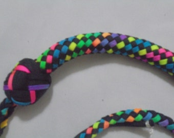 3 foot rainbow checkerboard snake whip