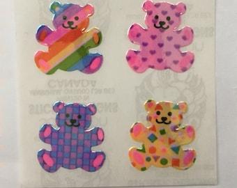 Vinage Sandylion Rainbow Pearl Teddy Bear Stickers