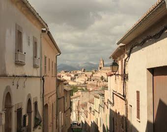 Spanish Village Skyline, Mallorca, Fine Art Photography Print