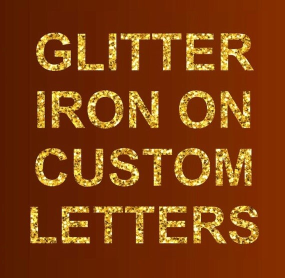 glitter iron on letters glitter iron on letters or numbers glitter by moapartystickers 21955