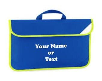 Childrens school book bag personalised