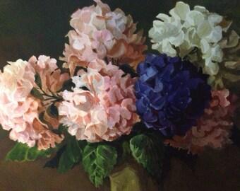 Painting Hydrangea Bouquet