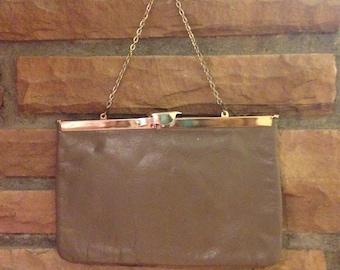 Vintage Tan Etra Clutch Bag