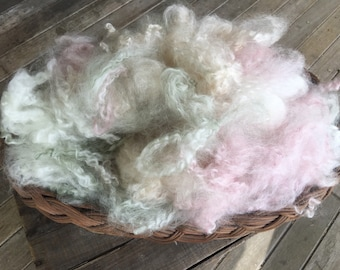 Prop Fluff Pink, Cream and Green * Photography Prop * Free Shipping in the US!
