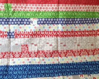 Whimsical Christmas Strip quilt
