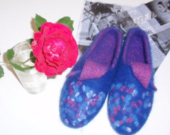 Felted Slippers for Woman, wool slippers
