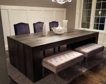 Solid wood dining table! Any stain color!