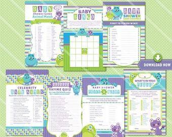 Monsters Inc Baby Shower Games, Monsters Inc Baby Shower Game Printables, Monsters Inc Baby Shower Invitation available