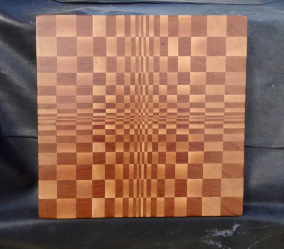 End Grain Cutting Board Optical Illusion Cherry Maple