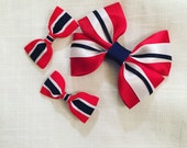 Flag bows, Norway, Finland hairbows