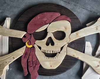 Wooden Pirate Flag