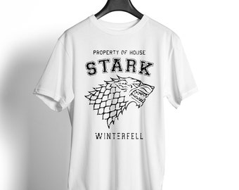 Stark unisex T shirt game of Thrones winter is coming Jon Snow Crow North wall