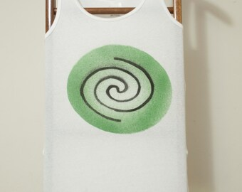 Celtic Spiral Stencil T-Shirt prototype