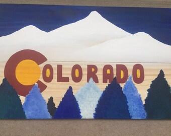 Handmade Colorado flag. Can make custom!