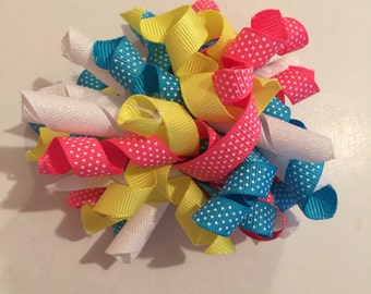 Curly Ribbon Summer Bow