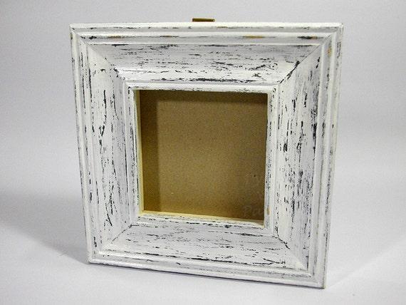 Cornice di legno della foto specchio squallido grigio bianco for Cornice foto legno