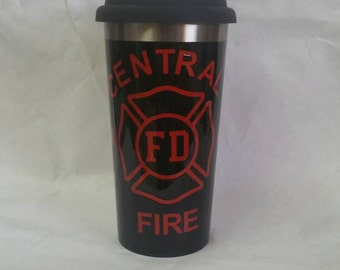 Thin red line fire fighter cup