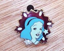 BLUE FAIRY Snowflake Pinocchio Lapel Pin, Enamel Pin, Pinback, Hat Pin, Disney, Cinderella, Sleeping Beauty, Snow White, Mickey Mouse