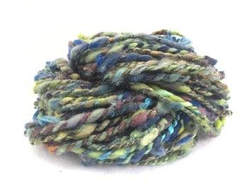 "Handspun Art Yarn ""Coral Reef"""