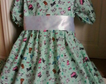 Short adult baby cotton print dress, Fancy dress/sissy Baby Annie