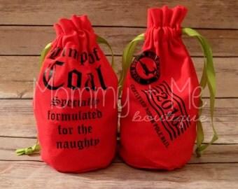 Lump of Coal Bag - Santa Coal Bag - Naughty Coal