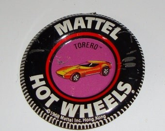 Mattel Hot Wheels Red Line Badge 1968 Torero Vintage Toy Car Memorabilia