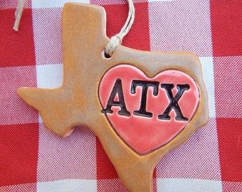 Austin Texas Ornament, ATX, Austin Ornament, Austin Memento