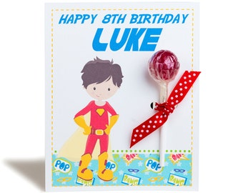 Personalised Superhero Lollipop Note