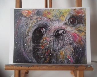 Shih Tzu Dog Artwork Print