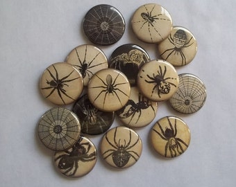 """Spider 1"""" Buttons. (set of 20)"""