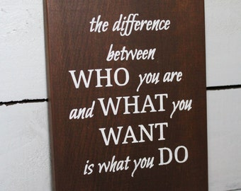 Inspiration Wall Art - Inspiring Quote - Wood Wall Decor - Rustic Wood Sign - Rustic Wall Art - Inspiring Wall Art - Wood Sign - Wall Art