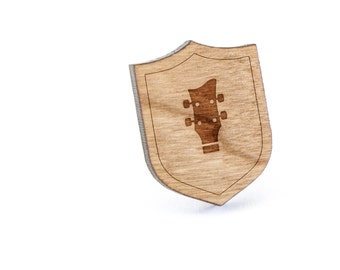 Bassclef Lapel Pin, Wooden Pin, Wooden Lapel, Gift For Him or Her, Wedding Gifts, Groomsman Gifts, and Personalized