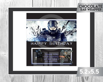 HALO Chocolate Wrapper, Halo Chocolate Wrappers, Halo Party