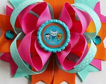4.5 Layered Boutique bottlecap hairbow  Octanuts