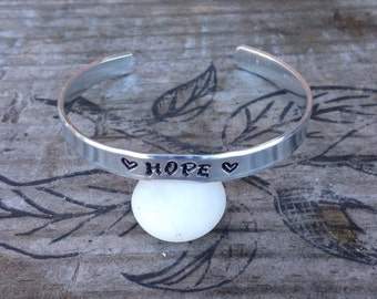 Hope cuff bracelet~ Hand stamped~Customizable bracelet