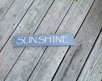 Sunshine Sign, Nautical, Coastal, Seaside, Sunshine, Beachy, Summertime, Sunny