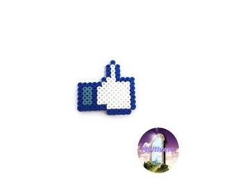 Magnet Facebook Like Logo Social Network [Pixel Art Hama Beads]