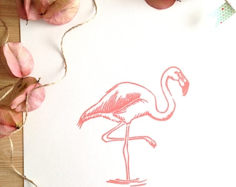 Flamingo in Coral