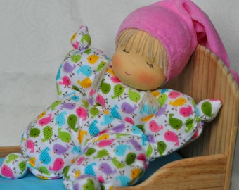 Waldorf ragdoll Titmouse 10,24 inch (26cm) MADE TO ORDER