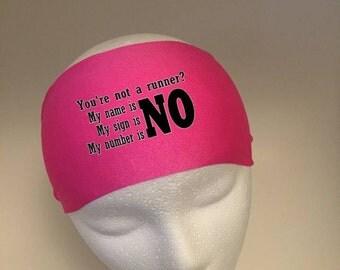 Running Headband ~Yoga Headband~ Workout Headband- NO!